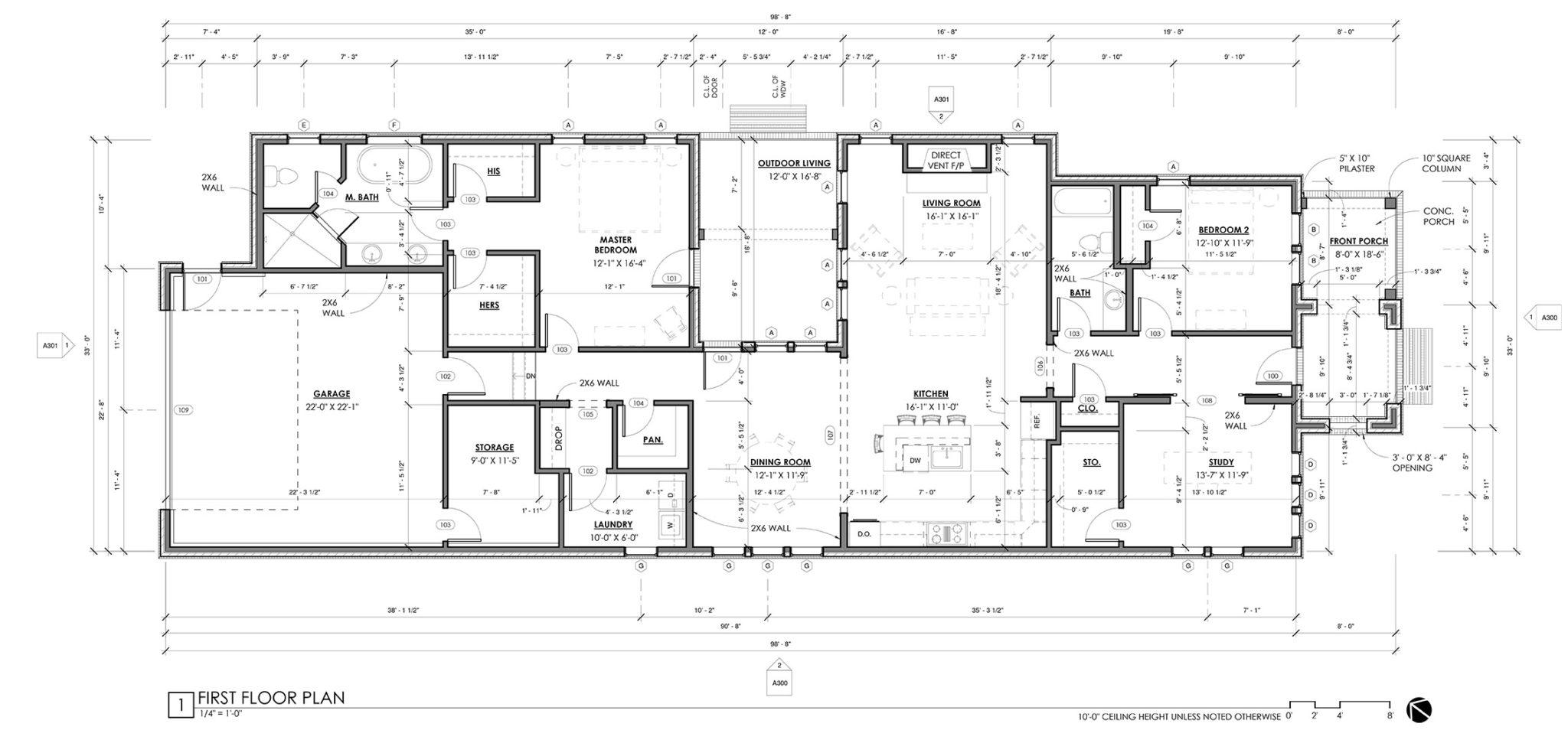 Alley Lot Plan Single
